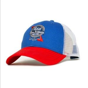 Other - PBR Pabst blue ribbon snap back sewn trucker hat